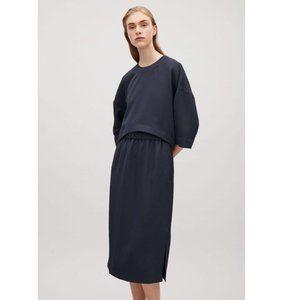 COS Layered Mid Length Midi Twill Dress Minimal